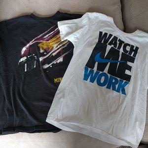 2 Boys Nike size Medium t-shirts